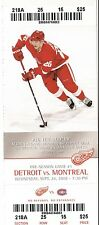 2008 DETROIT RED WINGS VS MONTREAL CANADIENS 9/24 TICKET STUB JIRI HUDLER