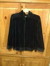 Navy Woman's  velour zip up jacket by New York Laundry  size 3X, 26/28