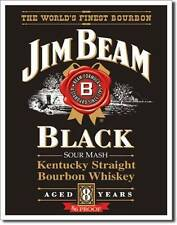 Jim Beam Black Label USA Metall Werbung Schild Plakat