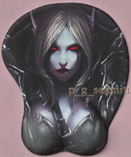 Game World of Warcraft WOW Sylvanas Windrunner Computer 3D Mouse Pad Big Bust