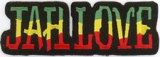 "RASTA JAH LOVE Embroidered Patches 1.5"" x 4.25"""