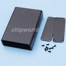72*25.5*100mm Aluminum Box Black PCB Instrument Enclosure Project Tool Case DIY