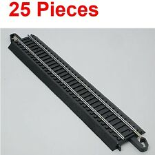 "Bachmann 44481 9"" Straight E-Z HO Train Track (25 Pieces)"