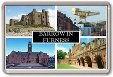 FRIDGE MAGNET - BARROW IN FURNESS - Large - Cumbria TOURIST