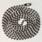 """100 Nickel Ball Chains 24"""" GI Dog tag Bead Chain Quality USA made"""