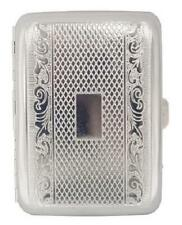 Engraved Silver Design METAL CIGARETTE CASE ~~~~~ Holds 16 Cigarettes, cigerette