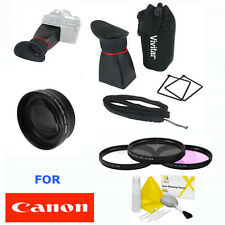 58MM ZOOM LENS + LCD VIEWFINDER + FILTER KIT FOR CANON EOS REBEL 1100D 1200D T5