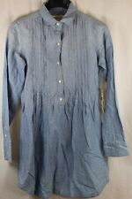WOMENS DENIM & SUPPLY RALPH LAUREN LS CHAMBRAY TUNIC BLOUSE SMALL NWT $125 STAIN