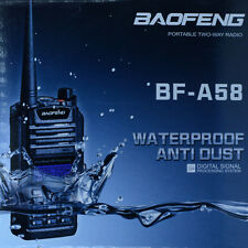 Waterproof Dustproof 2-Way Radio BAOFENG BF-A58 128CH Dual Band Walkies Talkies