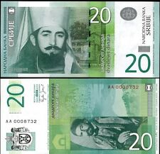 Serbia - 20 dinars -  UNC currency note