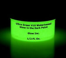 Glow Inc. Ultra Green SMOOTH Water Based Glow in the Dark Paint (1/2 Ounce)
