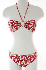 Manuel Canovas Multi-Color Abstract Print Bikini Swimwear Size 6 New
