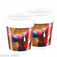 8 MARVEL THE AMAZING SPIDER-MAN 2 Movie party monouso 200ml COPPE IN PLASTICA