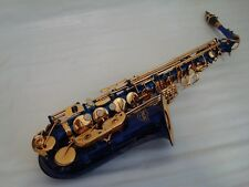Professional Blue Gold Alto Saxophone Sax Brand New