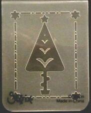 Sizzix Pequeño Carpeta de grabación en relieve de árbol de Navidad #4 se ajusta Cuttlebug Big Shot Wizard