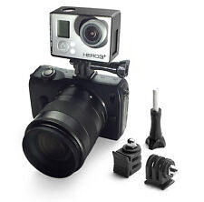 DSLR Hotshoe Adattatore Mount F. GoPro Go Pro HD HERO 1,2,3,3+ Flash ACCESSORI
