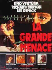 Affiche 120x160cm LA GRANDE MENACE (1978) Richard Burton, Lino Ventura TBE #