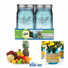 Wide Mouth Quart Jars Blue Mason Canning Jar Elite Collection 4 Pack 32 Oz Glass