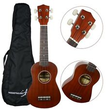 Rocket US10R Natural Soprano Ukulele With Bag