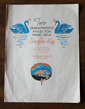 In an Old Chalet Piano solo by Stanford King 1943 piano sheet music vintage