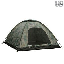 3-4 Person Outdoor Camping Waterproof 4 Season Folding Tent Camouflage Hiking US