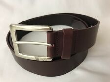 Tumi Cordovan Red Leather Dress Belt Golf Casual Silver Buckle 44 46 XL XXL 110