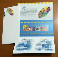 Singapore stamp - 1997 Transport High Val set P. Pack bus, MRT by SLANIA