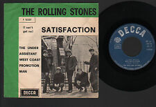"""7"""" ROLLING STONES SATISFACTION / THE UNDER ASSISTANT... ITALY LARGE GREEN LINE"""