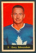 1960 61 PARKHURST HOCKEY #5 GARY EDMUNDSON EX COND TORONTO MAPLE LEAFS CARD