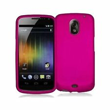 Hard Rubberized Case for Samsung Galaxy Nexus Prime i515 - Hot Pink