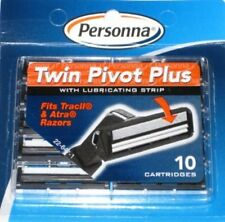 Personna Twin Pivot Plus Cartridges for Gillette, Atra, Trac II-(2 Pack of 10)