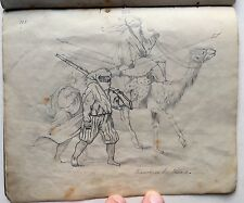 Antique 19th Century MANUSCRIPT Drawing Book HANDWRITTEN Art PORTFOLIO Fraktur