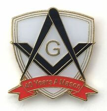 40 Years a Mason Masonic Commemorative Lapel Pin Badge *Exclusive*