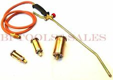 Propane Torch w/ 3 Nozzles Roofing Torch Ice Melt Weed Burner Thawing Pipes NEW