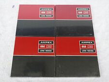 4 Brand New Sealed Ampex 444 Low Noise 1800ft 7in 1/4in Wide Reel To Reel Tapes