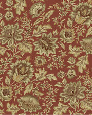 Drapery Upholstery Fabric Indoor/Outdoor Traditional Floral Tan, Beige, Red