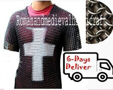 BUTTED CHAINMAIL CROSS SHIRT CHAIN MAIL ARMOR CHAINMAILE HAUBERGEON 15601 HS