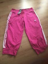 Adidas Ladies Women's Cropped Trousers Jogging Bottoms. Size 12. BNWT