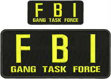FBI GANG TASK FORCE Embroidery patches  4x102x5 hook on back yellow letters