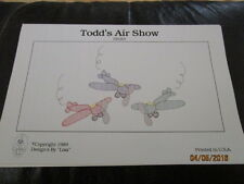 New Shadow Embroidery Sewing Patterns Heirloom  - TODD'S AIR  SHOW