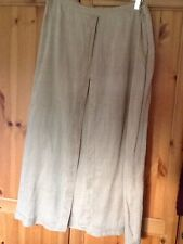 Nitya Beige Cotton Floaty Skirt Size 48 Cotton (UK20) - Excellent Condition