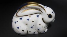 Royal Crown Derby Bunny Rabbit Paperweight w/Gold Stopper Mint No Box