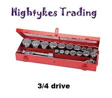 Socket Set 3/4″ 19-50mm Drive Metric 21pce Nut Socket Heavy duty 633663