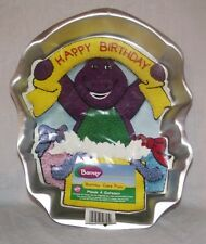 Wilton Barney Dinosaur Birthday Cake Pan w Instructions 2105-3450 Jello Mold Tin