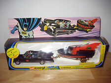 Vintage 1976 Corgi GS-3 Batmobile & Batboat Batman Vehicle Gift Set Original MIB