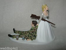 Wedding Party Reception Military Drunk Camo ~Beer Cans~ Hunter Cake Topper SALE