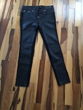 VERSACE LEATHER PANEL SKINNY PANTS SIZE 42 ITALY (US 6)