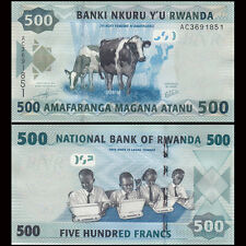 Rwanda 500 Francs, 2013, P-38 NEW, UNC Banknote Money Currency