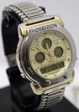 Vintage - Casio PNM-508 Poseidon Module 384 Metal 50M Analog Digital Wrist Watch