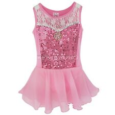 Girls Gym Ballet Dress Kids Leotard Tutu Skirt Dance Gymnastics Children Danwear